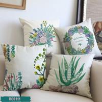 Sarung Bantal Sofa Kaktus Hijau 45x45 Digital Printing RC0111