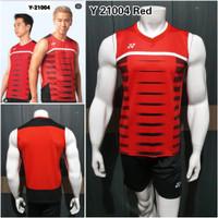 Baju duo minions badminton Y21004 Red kaos bulutangkis grade ori Yonex