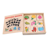 Shadow Matching Images Wooden Game - Mainan Edukasi Kayu Mencocokan