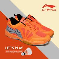 Sepatu Sport Pria Badminton Lining Saga Lite 2 Orange