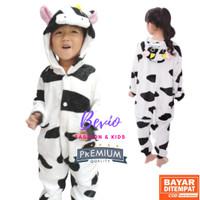Kostum Sapi Anak Lucu Impor Baju Tidur Onesie Karakter Animal Binatang