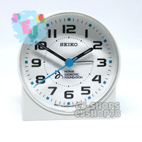 Jam Beker / Jam Weker / Jam Meja QHE907 Seiko Quiet Sweep LumiBrite - Putih