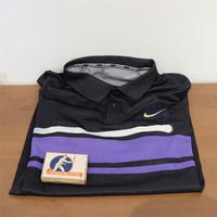 BAJU PRIA TENNIS NIKE US Open 2019 Black/Purple Size XL Slim Fit