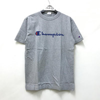 Champion Graphic T-shirt - Grey 100% Original - Abu-abu, S