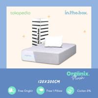Kasur Spring Bed IN THE BOX ORGANIX PLUSH 120x200 FREE 1 Pillow