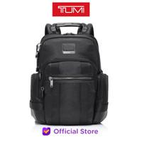 TUMI Alpha Bravo Norman Expandable Backpack Leather - Black