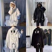 Back Pocket Panda Jacket Karakter Panda Lucu Kawaii Unisex