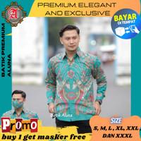 Baju Batik Pria Lengan Panjang Premium Modern Pesta Kantoran 84 - S