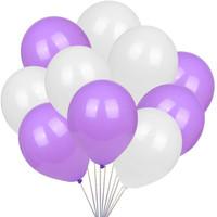 [10 pcs] Balon Ungu - Balon Putih / Balon Lateks / Balon Doff / Latex
