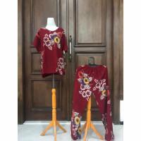 Setelan Celana Panjang Wanita Batik Cap Jumbo