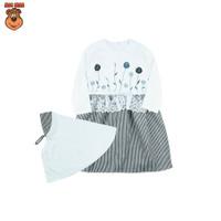 MacBee Baju Anak Perempuan Gamis Lebaran Collection Dafiyah - Hitam, SIZE 8