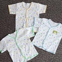 GB05 GROSIR 1 LUSIN Baju Pendek Bayi SNI Saffenda Newborn 0-3 bln