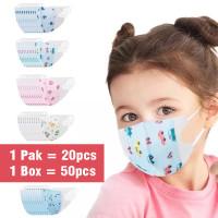 Masker Duckbill Anak dan Bayi 3ply 1 Pack isi 20 pcs Earloop face mask