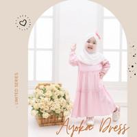 Gamis Dress Rayon Anak 1 2 3 4 Tahun Adem Lembut Baju Muslim