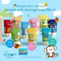 CROWN/snuggle Kantong Asi 120ml 30pcs Breastmilk Storage 6138
