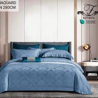 Sprei dan Bedcover jacguard tencel merk franco ukuran 200x200 - 160 X 200