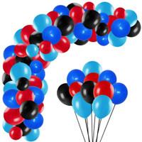 [10 pcs] Balon Biru Tua - Biru muda - Hitam - Merah / Balon Lateks