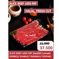 Daging Sapi Slice Beef Less Fat Impor Shabu Sukiyaki Yakiniku Teriyaki