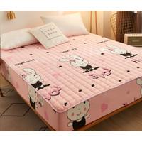 Bed Protector Waterproof Sprei Anti Air Debu Bayi Tungau Cover 180x200