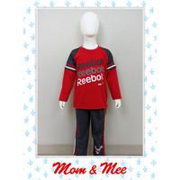 Piyama / Baju Tidur Anak Laki Reebok Merah 8-12