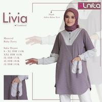 Livia baju atasan by alnita/ tunik dewasa / baju atasan wanita