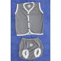Setelan Kutung Anak Baju Rumah In Joy ukuran M (6-9 bulan) - M - Abu-abu