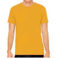 Kaos Polos Cotton Combed 24s / Baju Kaos unisex wanita pria - Kuning, M