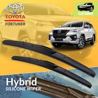 Wiper Frameless Toyota Fortuner VRZ Karet Kaca Mobil Silicon Hybrid