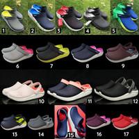 Sandal Crocs Pria / Sendal Crocs Pria / Crocs Literide / Sepatu Sandal - ABU TOSKA, M10