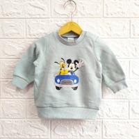 sweater bayi HM usia 2-9 bulan Mickey and Pluto mint