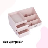Rak Penyimpanan Storage Make Up Organizer Bahan Plastik 2 Warna