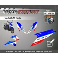 STIKER MOTOR HONDA BEAT KARBU   DECAL STRIPING REQUEST CUSTOM VARIASI