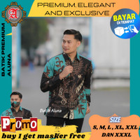 Baju Batik Pria Premium Lengan Panjang Modern Pesta Kantoran Kantun 76 - S