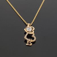 Kalung / Kalung Wanita Love / Aksesoris Perhiasan Wanita Xuping Emas