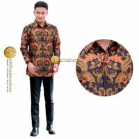 baju kemeja batik pria semi sutra lengan panjang terbaru artha 05