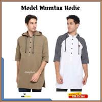 KEREN Baju Gamis Zayidan Koko Muslim Pria Model Mumtaz Hoodie Coklat