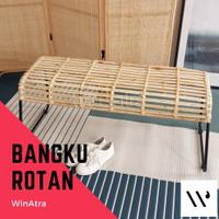 CALDER BANGKU KURSI PANJANG ROTAN/ RATTAN BENCH