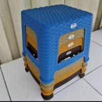 Kursi & Bangku Jongkok Plastik Clio Sahara 4016 - Cokelat