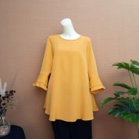 [NEW] Blouse Wanita Big Size 2L, 3L, 4L & 5L Warna Kuning Kunyit - 2L (XXL)