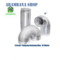 ✨Fleksibel 4 inchi aluminium udara ventilasi ducting