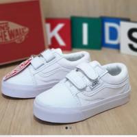sepatu anak putih polos vans old school ukuran 20 - 35
