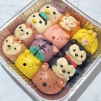 Pao karakter kotak 20x20 - bapao - bakpao - Nutella