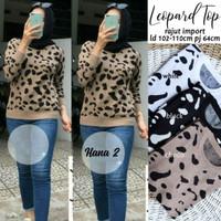 Baju Atasan Wanita Rajut Import Terbaru Kekinian Best Seller LEOPARD