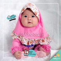 baju jumper bayi hijab bunga mawar