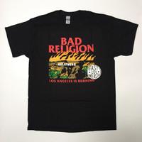 Kaos / T-Shirt Band Bad Religion - Burning Black Official Merchandise