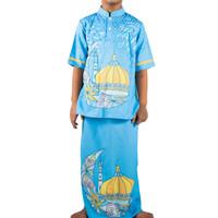 Baju Koko Anak Turquoise Blue - 7-8 tahun