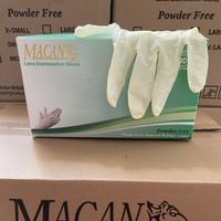 Sarung Tangan Latex New Macan Powder Free Size L