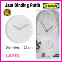 Jam Dinding Putih IKEA Diameter 25 cm Minimalis Modern Elegan