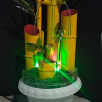 Air mancur bambu tik tok jumbo variasi lampu