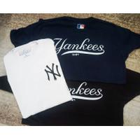 Kaos T-Shirt New York Yankees Merchandise Resmi MLB Murah Original